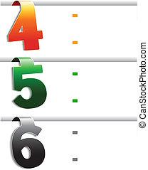 web navigation - offer template, set 2