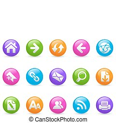 Web Navigation / Rainbow - Glossy web buttons for your...