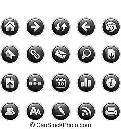 Web Navigation  - Vector buttons.