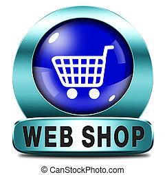 web, negozio