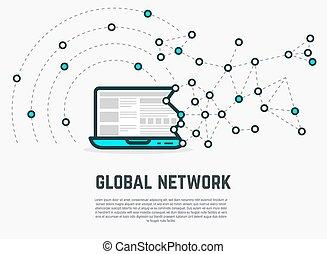 Web network laptop