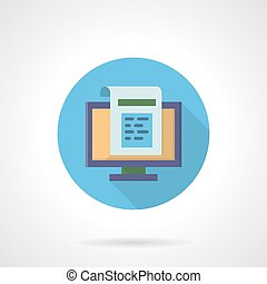 Web newsletter flat round vector icon