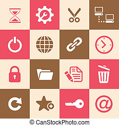 web ofrecer, iconos