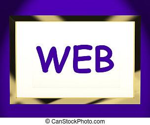 Web On Screen Shows Websites Internet Www Or Net