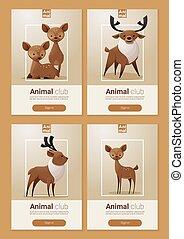 web ontwerp, spandoek, dier, deers