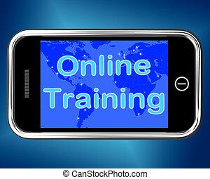 web, opleiding, beweeglijk, leren, online, boodschap, optredens