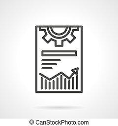 Web optimization icon black line vector icon