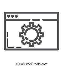 Web optimization line icon, seo and development, browser sign vector graphics, a linear pattern on a white background, eps 10.
