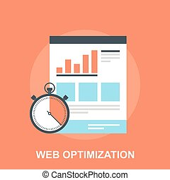 Web Optimization - Vector illustration of web optimization...