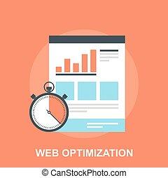 Web Optimization - Vector illustration of web optimization...