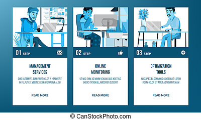 Web Page Banners Design . Business Style. Abstract Project Cover. Cartoon Character. Idea Structure. Illustration