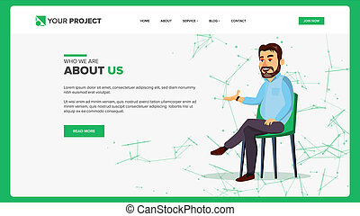 Web Page Design . Business Style. Front End Site Scheme. Cartoon People. Benefits Scheme. Illustration