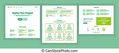 Web Page Design Vector. Website Business Reality. Shopping Online Site Scheme Template. Cyber Monday. Planning Strategy. Invest Conference. Illustration