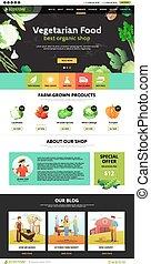 Web Page Eco Food