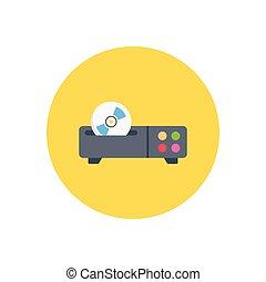 web page  flat color icon