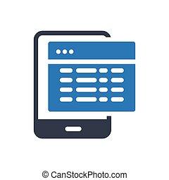 web page  glyph color icon