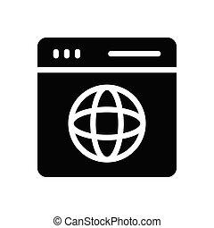 web page  glyph flat icon