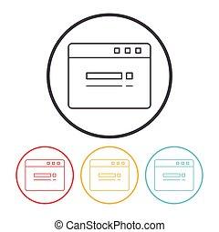 web page line icon