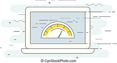 Web page loading speed test icon - site performance ...
