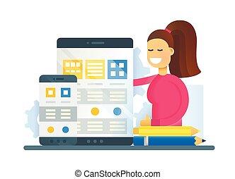 Web Page Optimization - flat design website banner