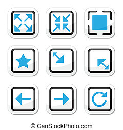 Web page screen size icons set - Screen size icons as labels...