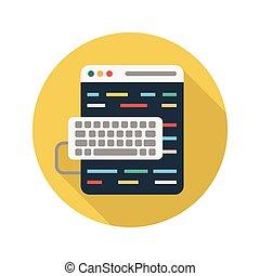 web page flat icon