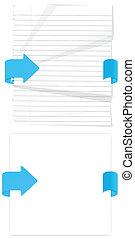 Web Paper Elements Vectors