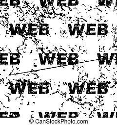 WEB pattern grunge, monochrome