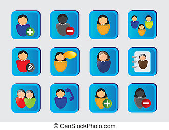 web people icons