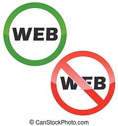 WEB permission signs set