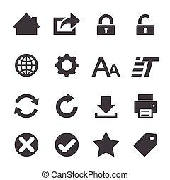 web, pictogram