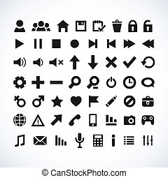 web, pictogram, set