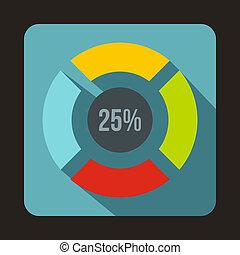 Web preloader, 25 percent icon, flat style