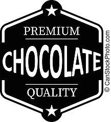 web, premie, postzegel, ouderwetse , chocolade, rubber, zwarte achtergrond, witte , kwaliteit, pictogram