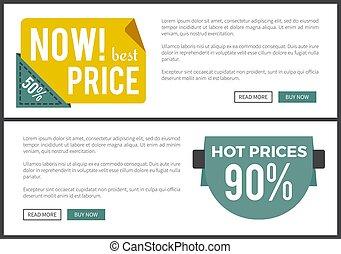 web, prijs, illustratie, warme, vector, nu, best