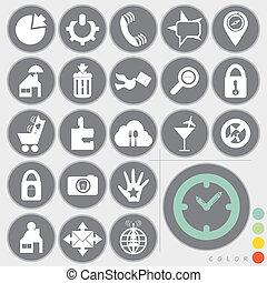 web, progetto serie, icone