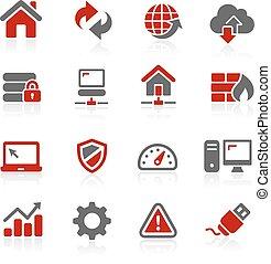 web, redico, icone, serie, -, sviluppatore