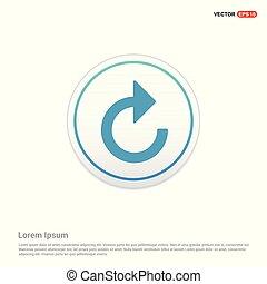 Web refresh icon - white circle button