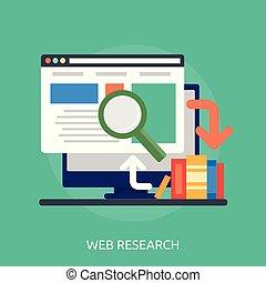 Web Research Conceptual illustration Design