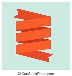 Web Ribbons Set, Vector Illustration