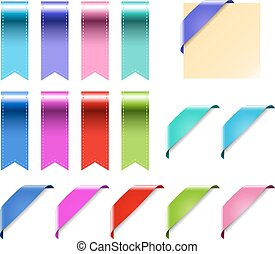 Web Ribbons Set With Gradient, isolated on white Vector Illustration