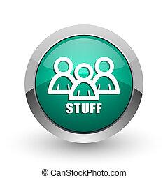web, ronde, chroom, metalen, achtergrond., farceren, ontwerp, internet, groen wit, schaduw, zilver, pictogram