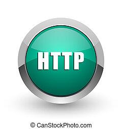 web, ronde, http, chroom, metalen, achtergrond., ontwerp, internet, groen wit, schaduw, zilver, pictogram