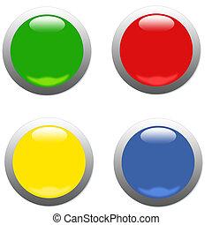 Web Round Button