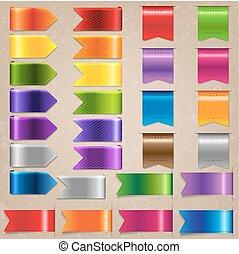 Web Satin Ribbon Set, Vector Illustration