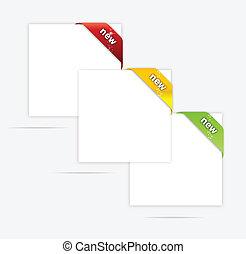 web, satz, gefärbt, abstrakt, papier, leer