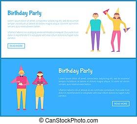 web, satz, maenner, geburstag, plakate, party, frauen