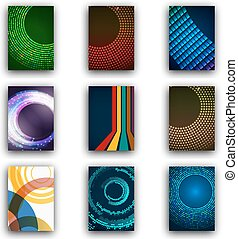 web, satz, technologie, wohnung, beweglich, app, modern, brochures., web, saas, infographic, design, icons., interface., beweglich, ui, linie, concept., template., post, templates.