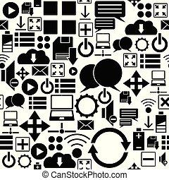 web seamless pattern background icon.
