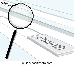 web search and magnifier vector illustration